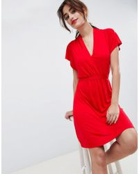 French Connection - Medina Til Print Tie Waist Dress - Lyst
