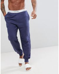 CALVIN KLEIN 205W39NYC - Modern Cotton Joggers With Cuffed Ankle In Regular Fit - Lyst