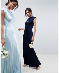 Ghost - Bridesmaid Capped Sleeve Maxi Dress With Keyhole Detail - Lyst