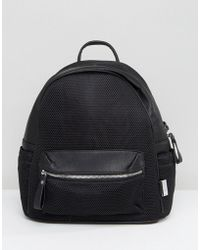 LAMODA - Mesh Backpack In Black - Lyst