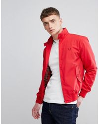 Fred Perry - Reissues Made In England Harrington Jacket In Red - Lyst