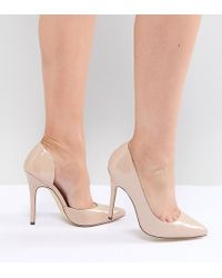 London Rebel - Wide Fit Pointed High Heels - Lyst