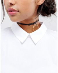 Vanessa Mooney - Leather Bolo Choker Necklace With Gold Plated Charms - Lyst