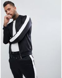 The Couture Club - Track Jacket In Black Muscle Fit - Lyst