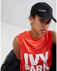 Ivy Park - Logo Cap In Black - Lyst