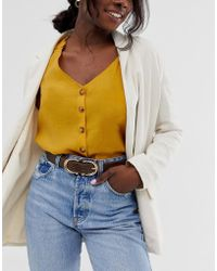 Glamorous Brown Mock Croc Double Circle Waist And Hip Jeans Belt