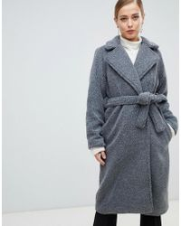 French Connection - Longline Teddy Fur Coat - Lyst