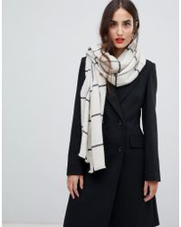 French Connection - Windowpane Check Scarf - Lyst