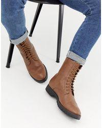 Truffle Collection Светло-коричневые Ботинки На Шнуровке С Подкладкой Из Искусственного Меха - Рыжий - Коричневый