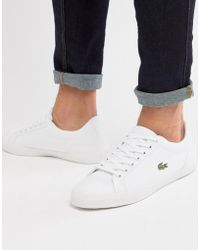 Lacoste - Lerond Bl 2 Trainers In White Canvas - Lyst