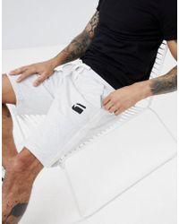 G-Star RAW - Logo Sweat Shorts With Side Stripe - Lyst