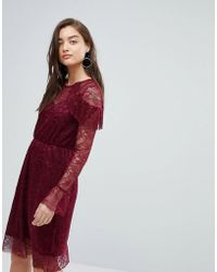 Warehouse - Lace Tea Dress - Lyst