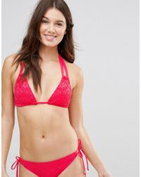 DORINA - Coral Triangle Crochet Bikini Top - Lyst