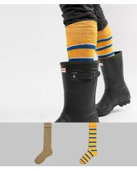 ASOS - Festival Welly Socks In Retro Stripe Design 2 Pack - Lyst