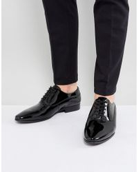 ALDO - Stolfi Oxford Patent Shoes In Black - Lyst