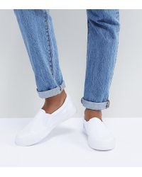 9dc54d722058 Lyst - ASOS White X Reebok Freestyle In Satin Stripe in Blue