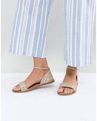 Accessorize - Marissa Pink Mirrored Flat Sandals - Lyst