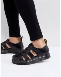 Dr. Martens - Vibal Closed Sandals In Black - Lyst
