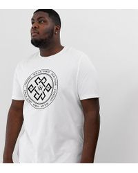 c27e98aa0bd8ed River Island - Big   Tall T-shirt With Maison Embroidery In White - Lyst