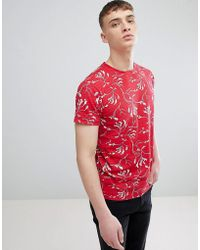 Solid - T-shirt In Reverse Print In Red - Lyst