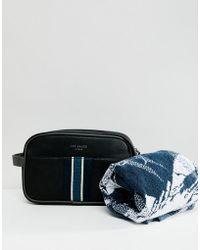 Ted Baker - Smitset Toiletry Bag With Towel - Lyst