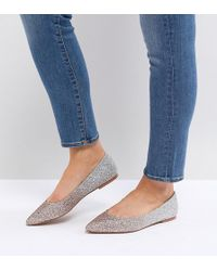 ASOS - Asos Latch Wide Fit Pointed Ballet Flats - Lyst