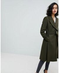 Reiss - Fit & Flare Wool Coat - Lyst
