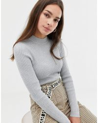 Bershka - Medium Weight Ribbed Jumper - Lyst