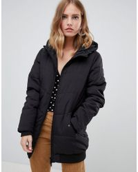 ONLY - Elastic Hem Padded Midi Jacket - Lyst