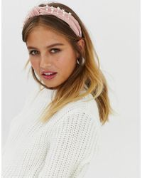New Look - Pearl Knot Aliceband In Nude - Lyst