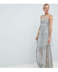 A Star Is Born - Embellished Maxi Dress With Iridescent Sequins - Lyst