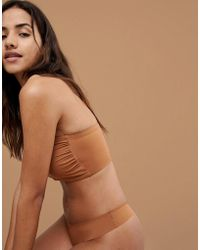 7038f39b0f9 Nubian Skin - Naked Collection Nude Bandeau Bra In Warm - Lyst