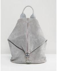ASOS - Suede Dogclip Backpack - Lyst