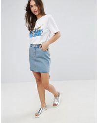 Cheap Monday - Warp Roll Hem Denim Skirt - Lyst