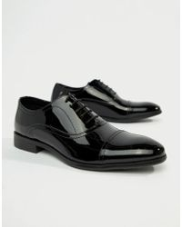Red Tape - Boston Lace Up Brogue Shoes In Black Patent - Lyst