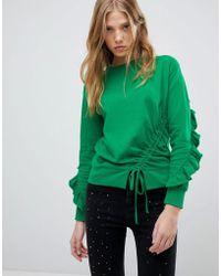 Miss Selfridge - Frill Open Back Sweater - Lyst