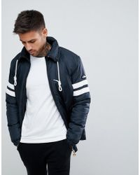 Ellesse - Mandial Jacket With Sleeve Panel In Black - Lyst