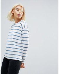 ASOS - Stripe T-shirt In Baby Loop Back - Lyst