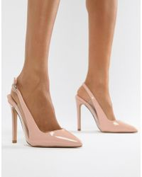 Lost Ink - Tanya Clear Detail Sling Back Pumps - Lyst