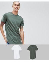 Jack & Jones - Originals 2 Pack Longline T-shirt Save - Lyst
