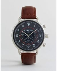 Ben Sherman Wb068bbr In Brown Leather