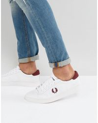 Fred Perry - Spencer Mesh Trainers In White - Lyst