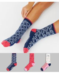 Original Penguin - 3 Pack Sock Gift Box In Pink And Navy - Lyst