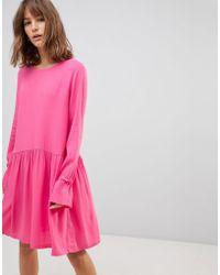 Just Female - Hudson Fluted Shift Dress - Lyst