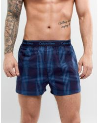 CALVIN KLEIN 205W39NYC - Woven Boxers In Traditional Fit - Lyst