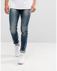 Lindbergh - Tapered 5 Pocket Stretch Jean In Blue - Lyst