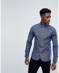 Only & Sons - Slim Fit Shirt - Lyst