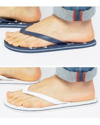 ASOS - Flip Flops 2 Pack In Navy And White Save - Lyst