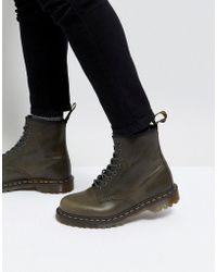 Dr. Martens - Washed Leather 8 Eye Boots 1460 - Lyst
