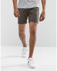 ASOS - Slim Chino Shorts In Forest Green - Lyst
